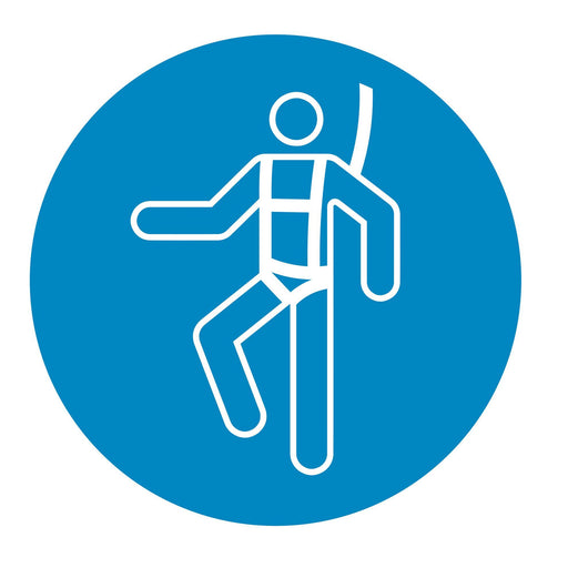 Wear a safety harness - Symbol sticker sheet supplied as per image shown