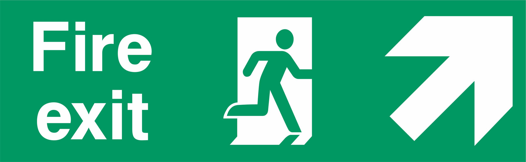 Fire Exit - Running Man Right - Up Right Arrow