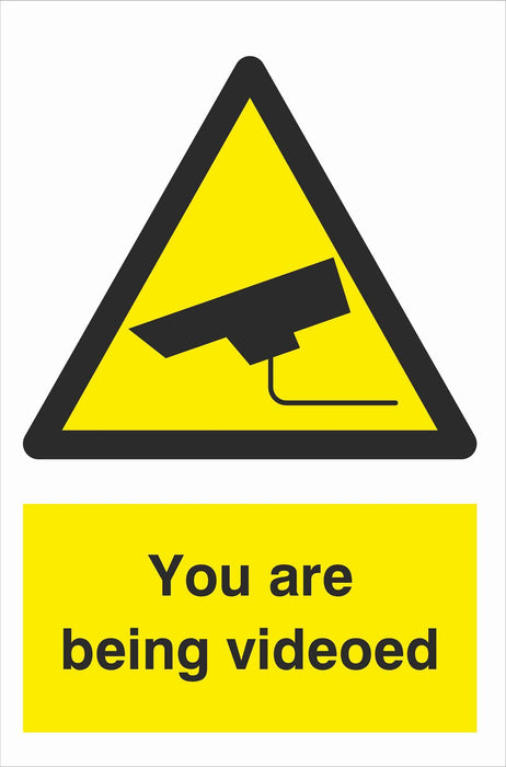 Security - CCTV  Sign - You are being videoed