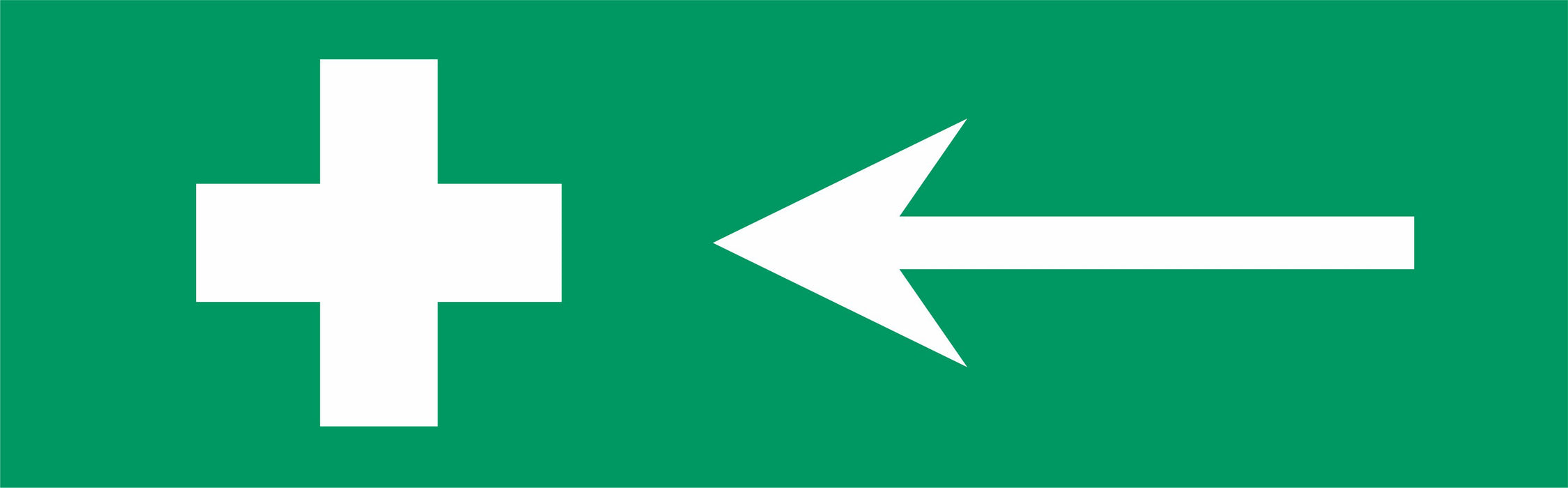 First aid symbol - arrow left