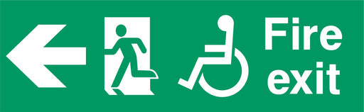 Fire exit - Running Man Left - Left Arrow - Disabled logo