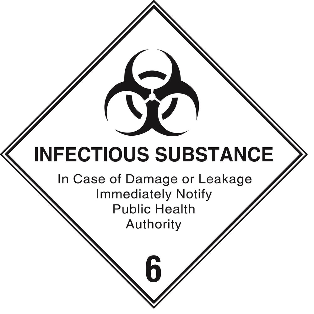 Hazardous Diamond - INFECTIOUS SUBSTANCE 6