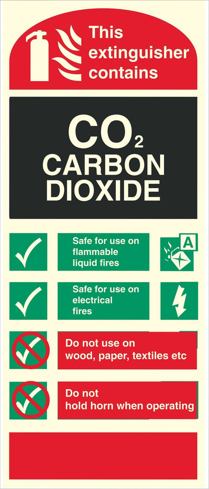 CO2 CARBON DIOXIDE - Fire Extinguisher