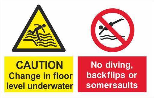 CAUTION Change in floor level underwater