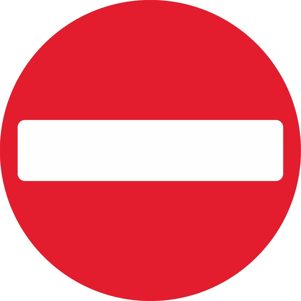 No entry for vehicular traffic - Road Traffic Sign