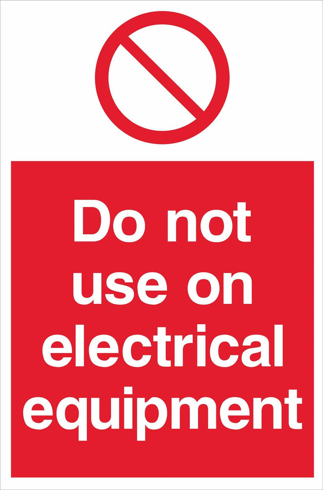 Do not use on electrical equipment