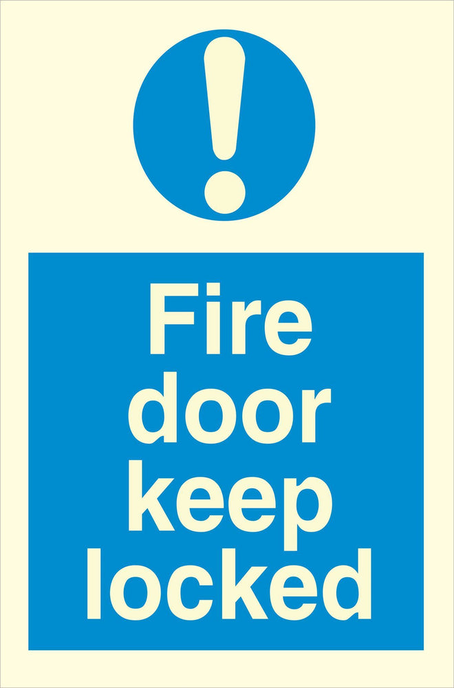 Fire door keep locked