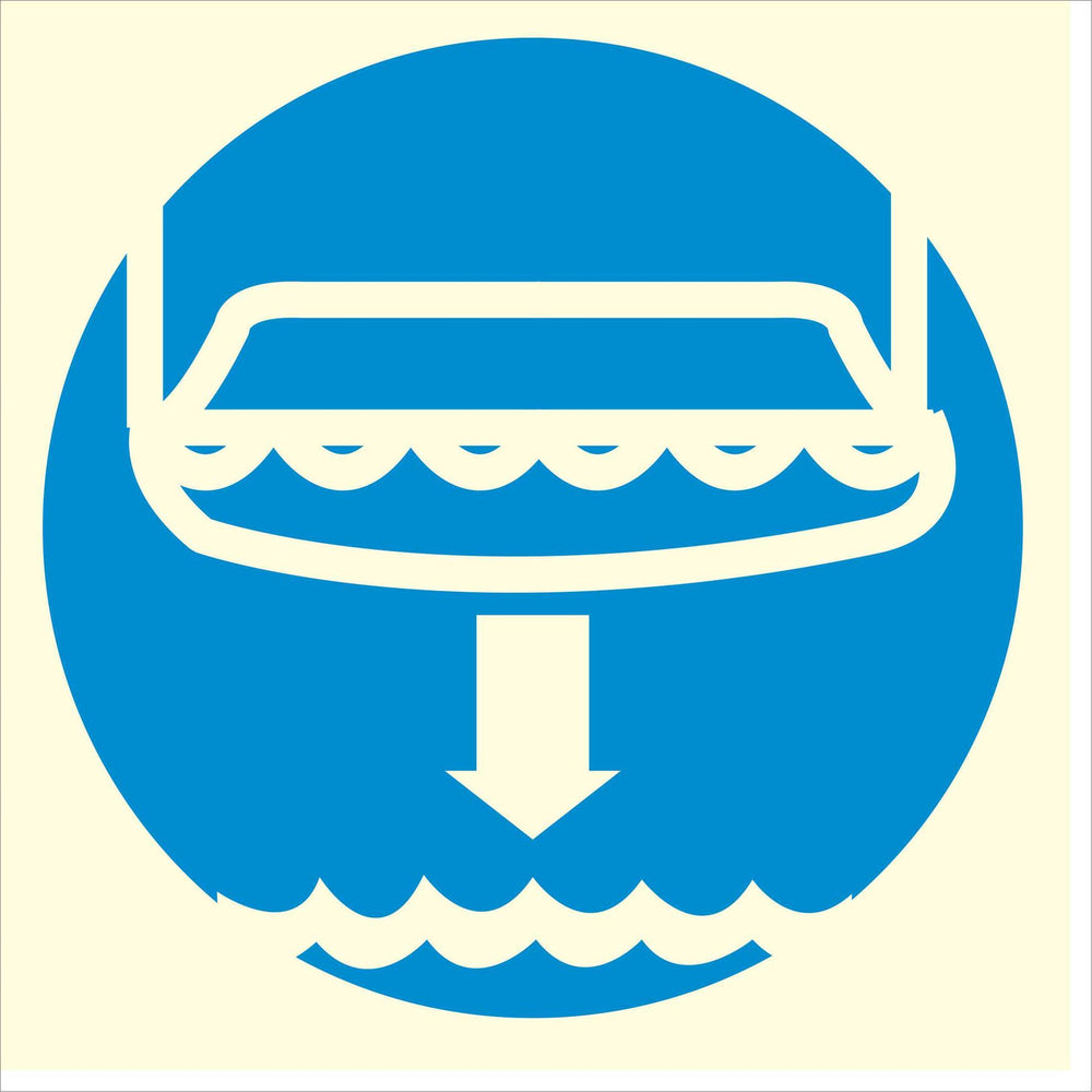 Lower lifeboat - Symbol