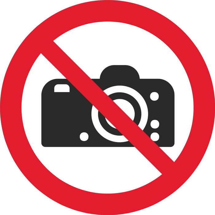No photography - Symbol sticker sheet