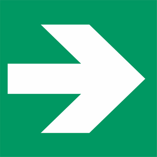 Emergency exit right arrow sign - General safe conditions