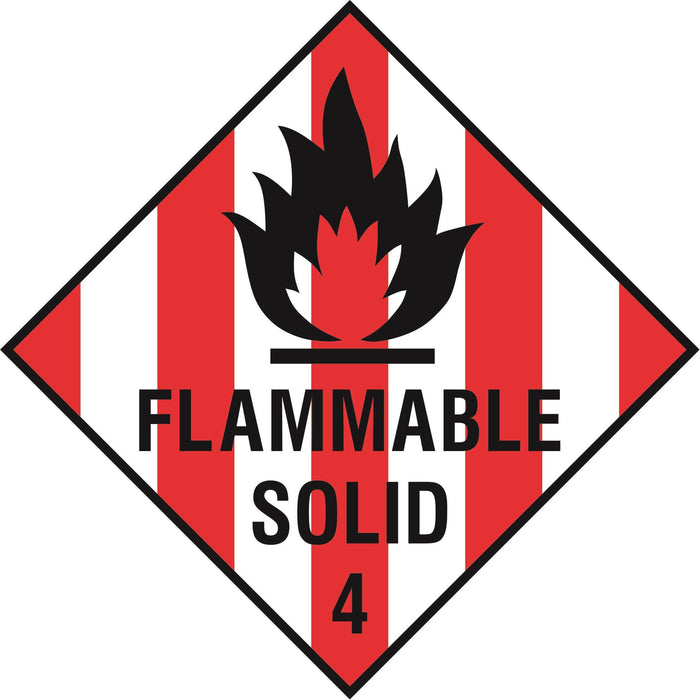 Hazardous Diamond - FLAMMABLE SOLID 4