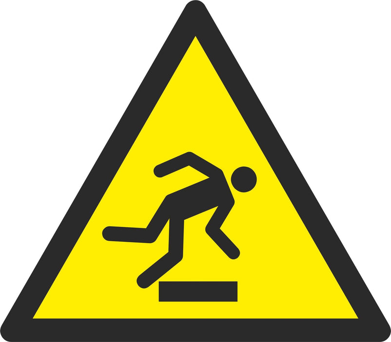 Warning Floor-level obstacle - Symbol sticker sheet
