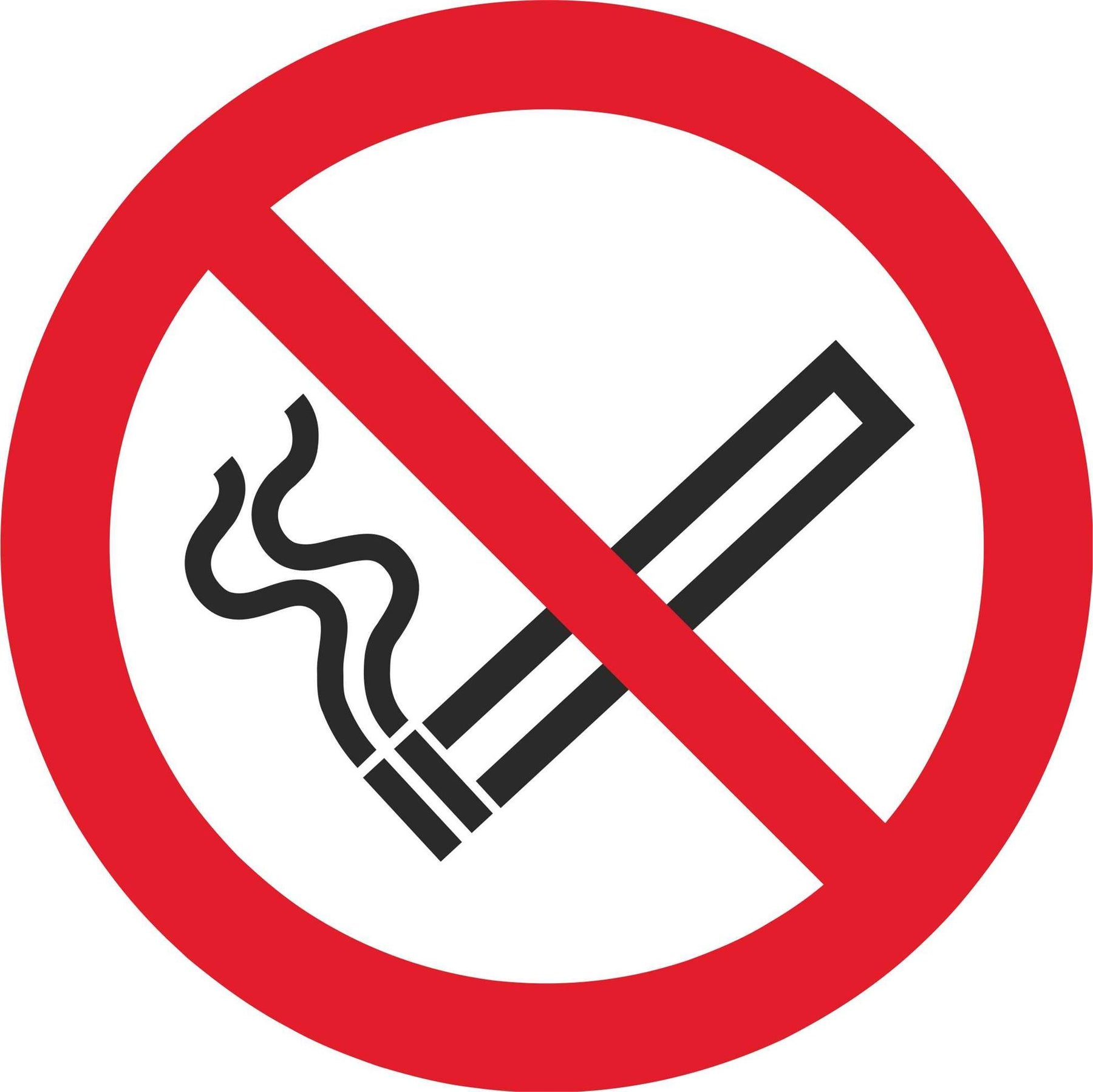 No Smoking - Symbol Sticker Sheet