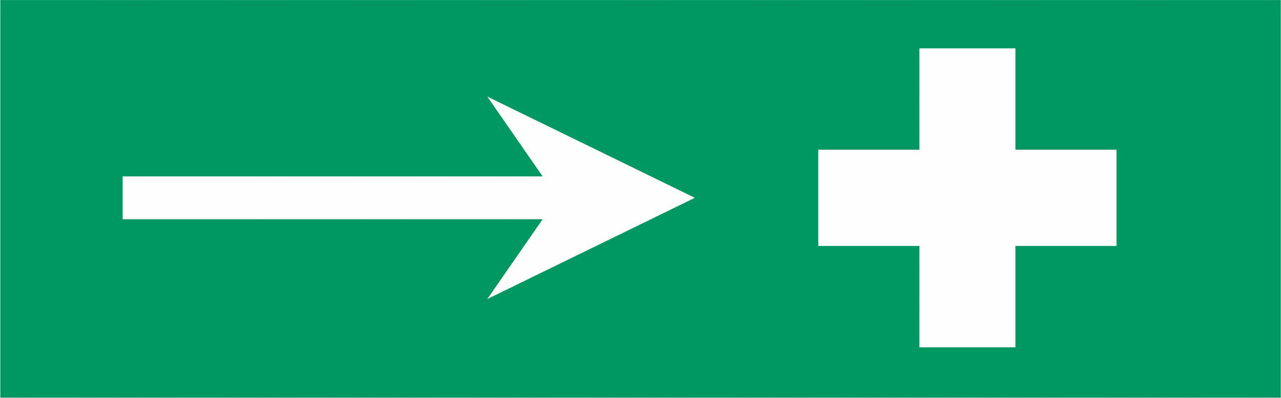 First aid symbol - arrow right