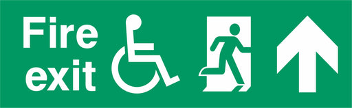 Fire exit - Running Man Right - Up Arrow - Disabled logo