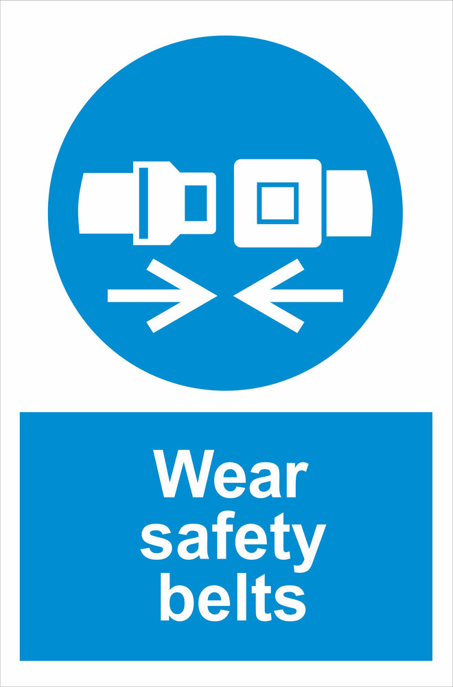 Wear safety belts