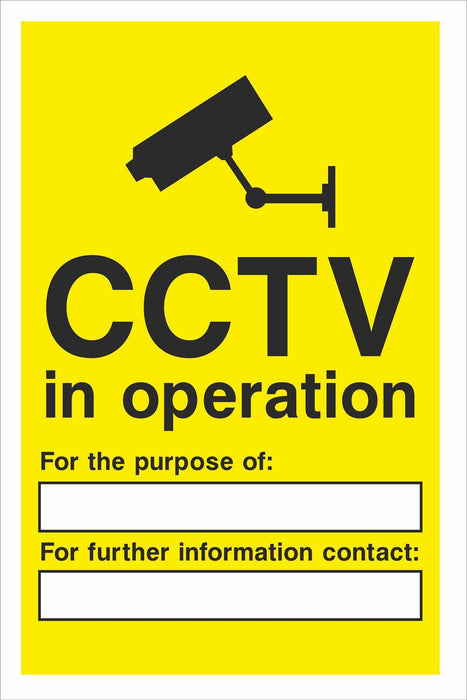 Security - CCTV  Sign - CCTV in operation