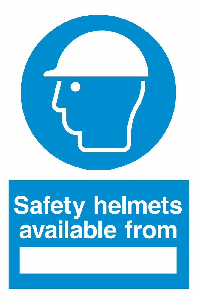 Safety helmets available from ….