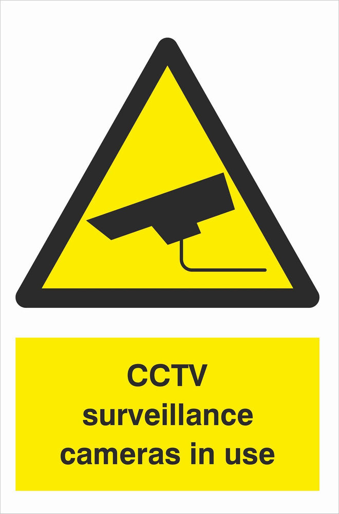 Security - CCTV  Sign - CCTV surveillance cameras in use