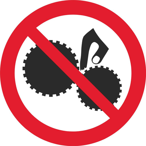 No unauthorised persons to use this machine - Symbol sticker sheet