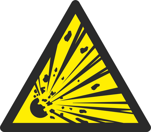 Warning Explosive material - Symbol sticker sheet