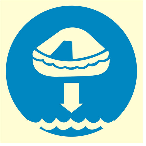 Lower life raft - Symbol