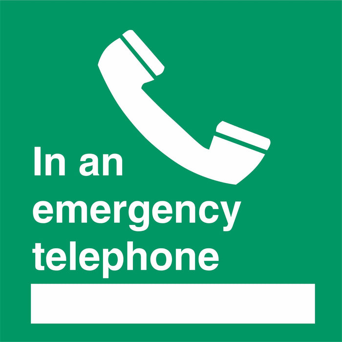 In an emergency telephone …