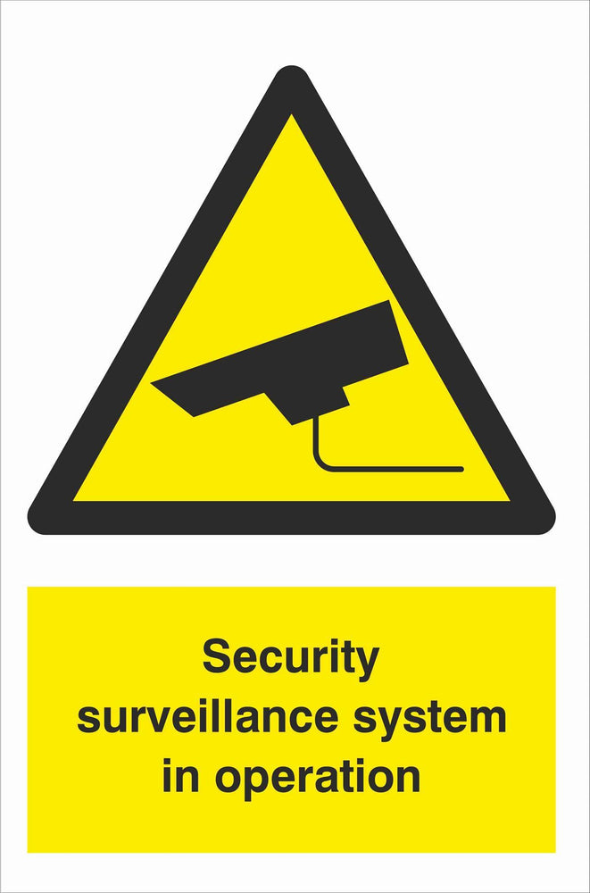 Security - CCTV  Sign - Security surveillance system in operation