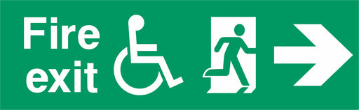 Fire exit - Running Man Right - Right Arrow - Disabled logo