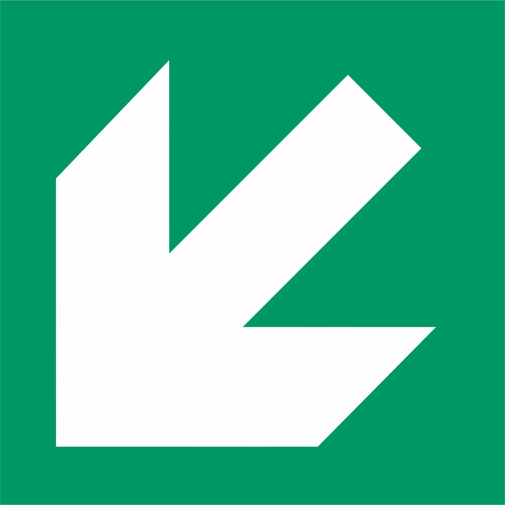 Emergency exit arrow left  - General safe conditions