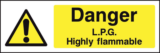 Danger L.P.G. Highly flammable