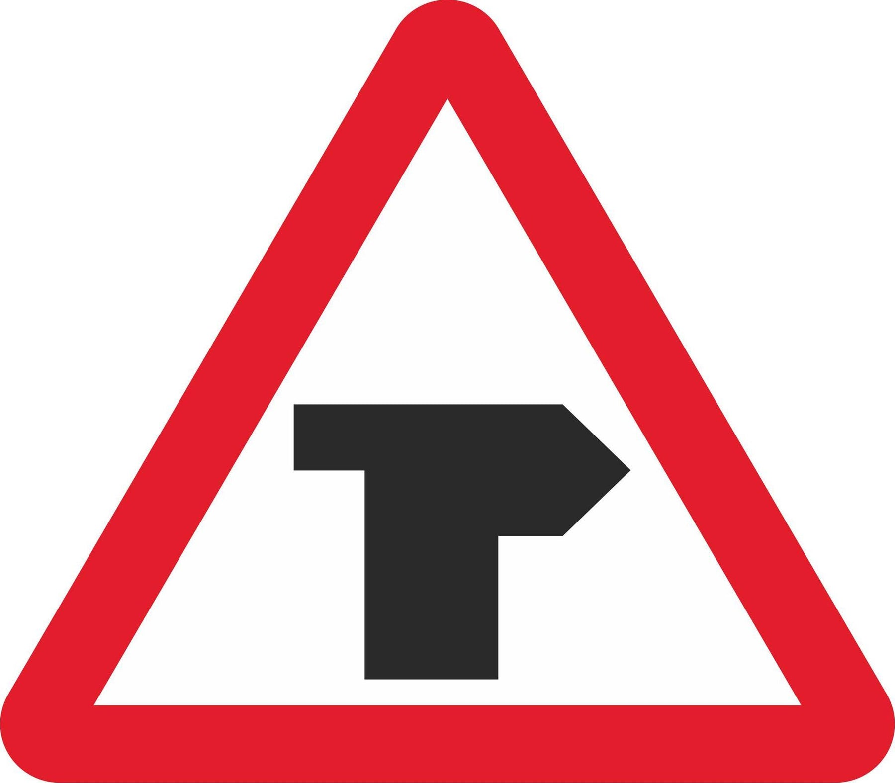 T-junction with priority over vehicles from the left - Road Traffic Sign