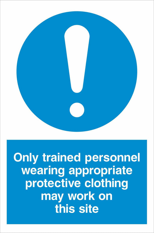 Only trained personnel wearing appropriate protective clothing may work on this site