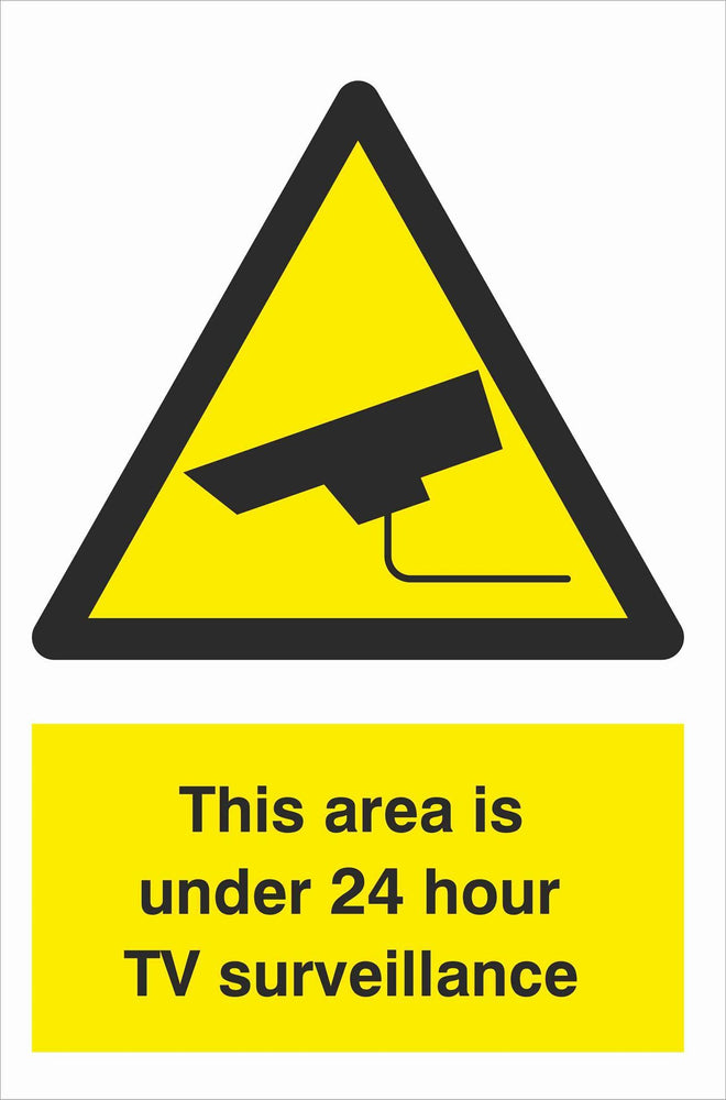 Security - CCTV  Sign - This area is under 24 hour TV surveillance