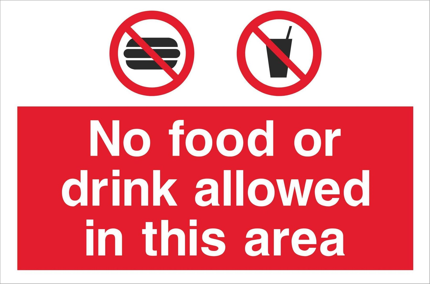 No food or drink allowed in this area