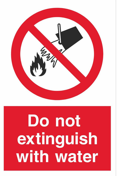 Do not extinguish with water