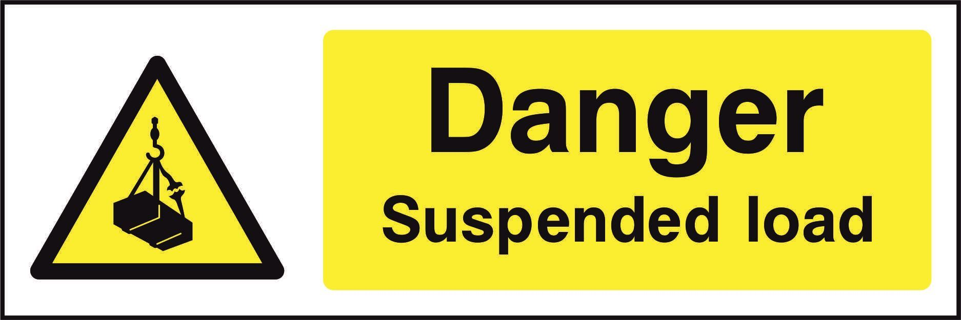 Danger Suspended load