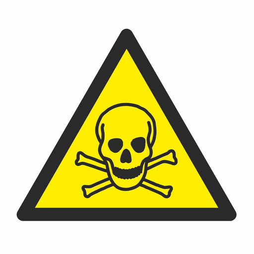 Warning Toxic material - Symbol sticker sheet