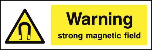 Warning strong magnetic field