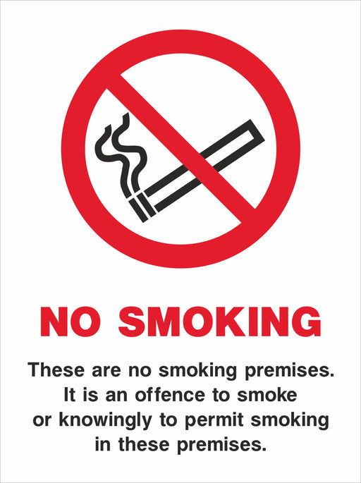 NO SMOKING These are no smoking premises…