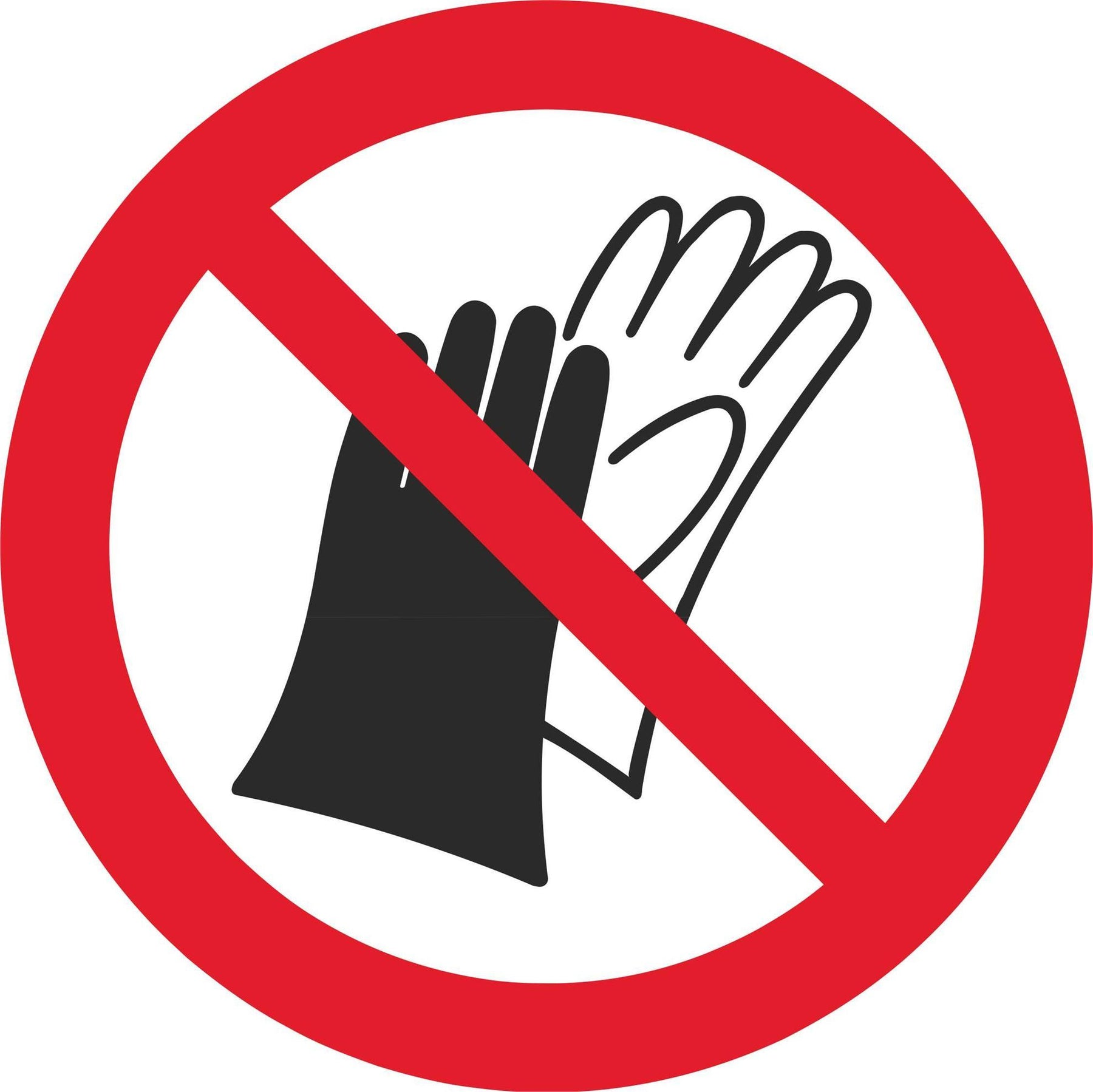 Do not wear gloves - Symbol sticker sheet
