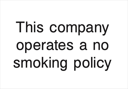 This company operates a no smoking policy
