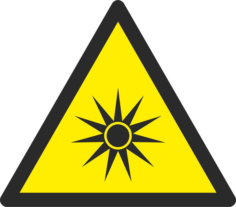 Warning Optical radiation - Symbol sticker sheet
