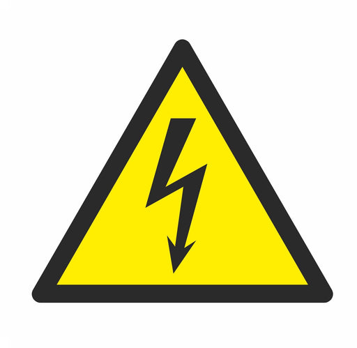 Warning Electricity - Symbol sticker sheet