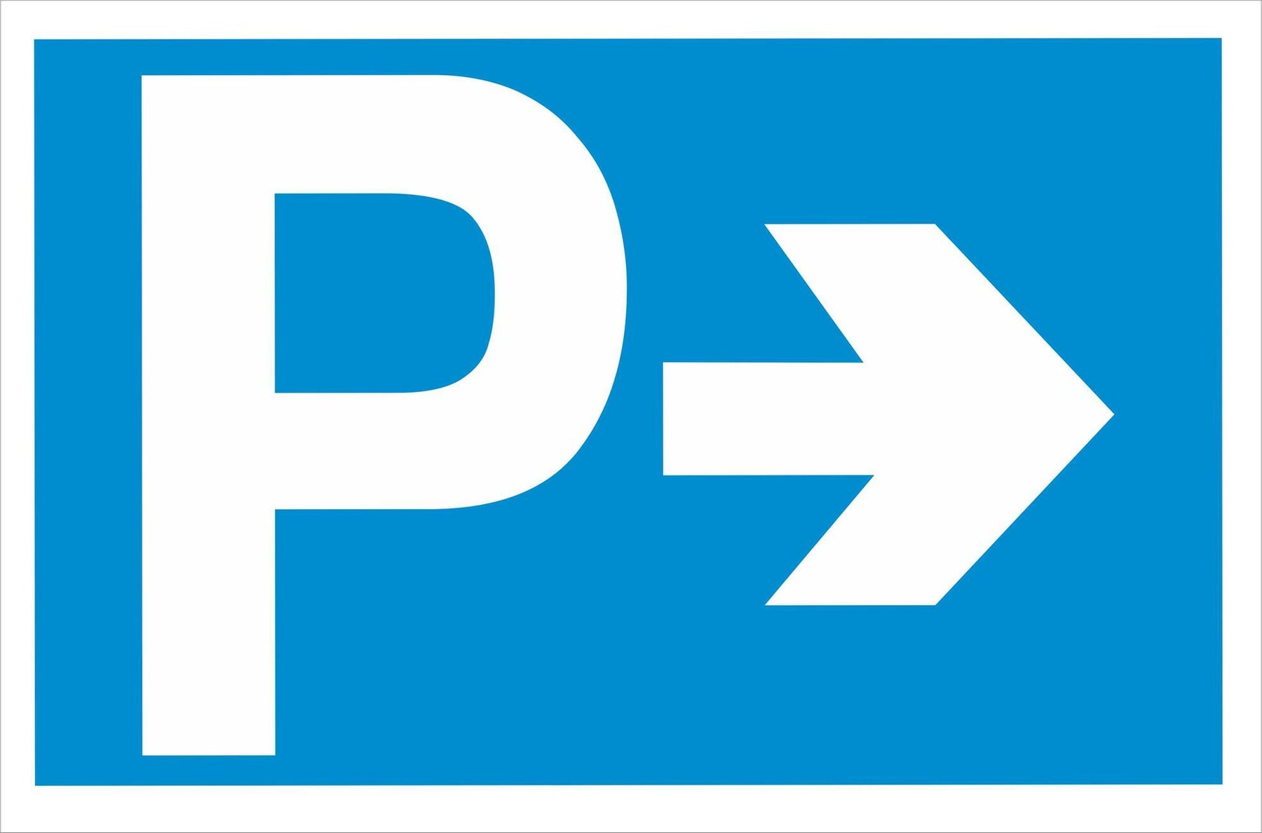 P - Parking - Right Arrow
