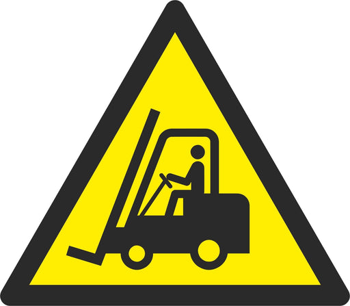 Warning Forklift trucks and other industrial vehicles - Symbol sticker sheet
