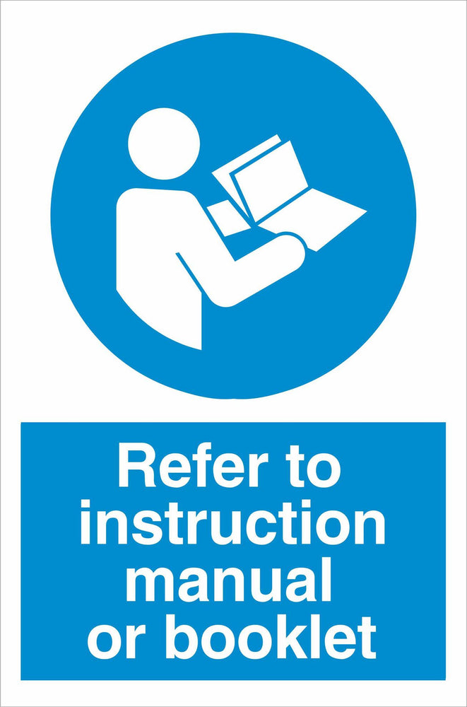 Refer to instruction manual or booklet