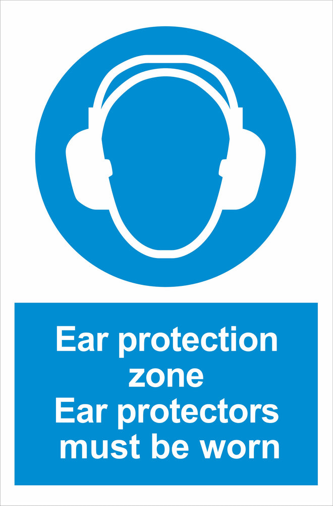 Ear protection zone Ear protectors must be worn