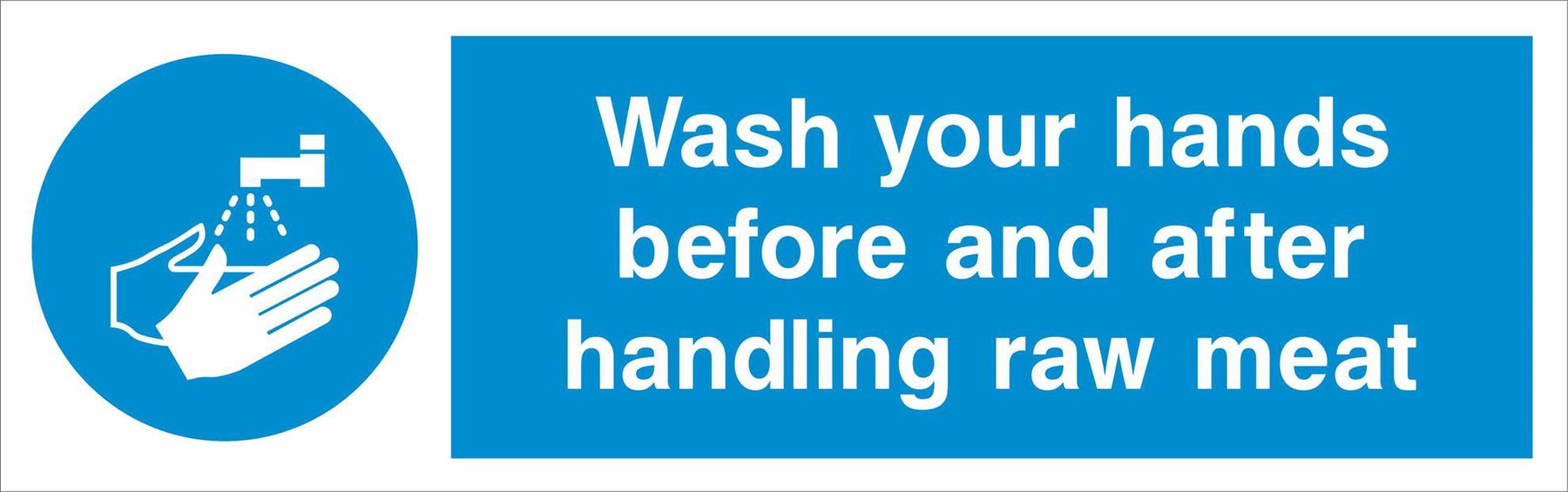 Wash your hands before and after handling raw meat