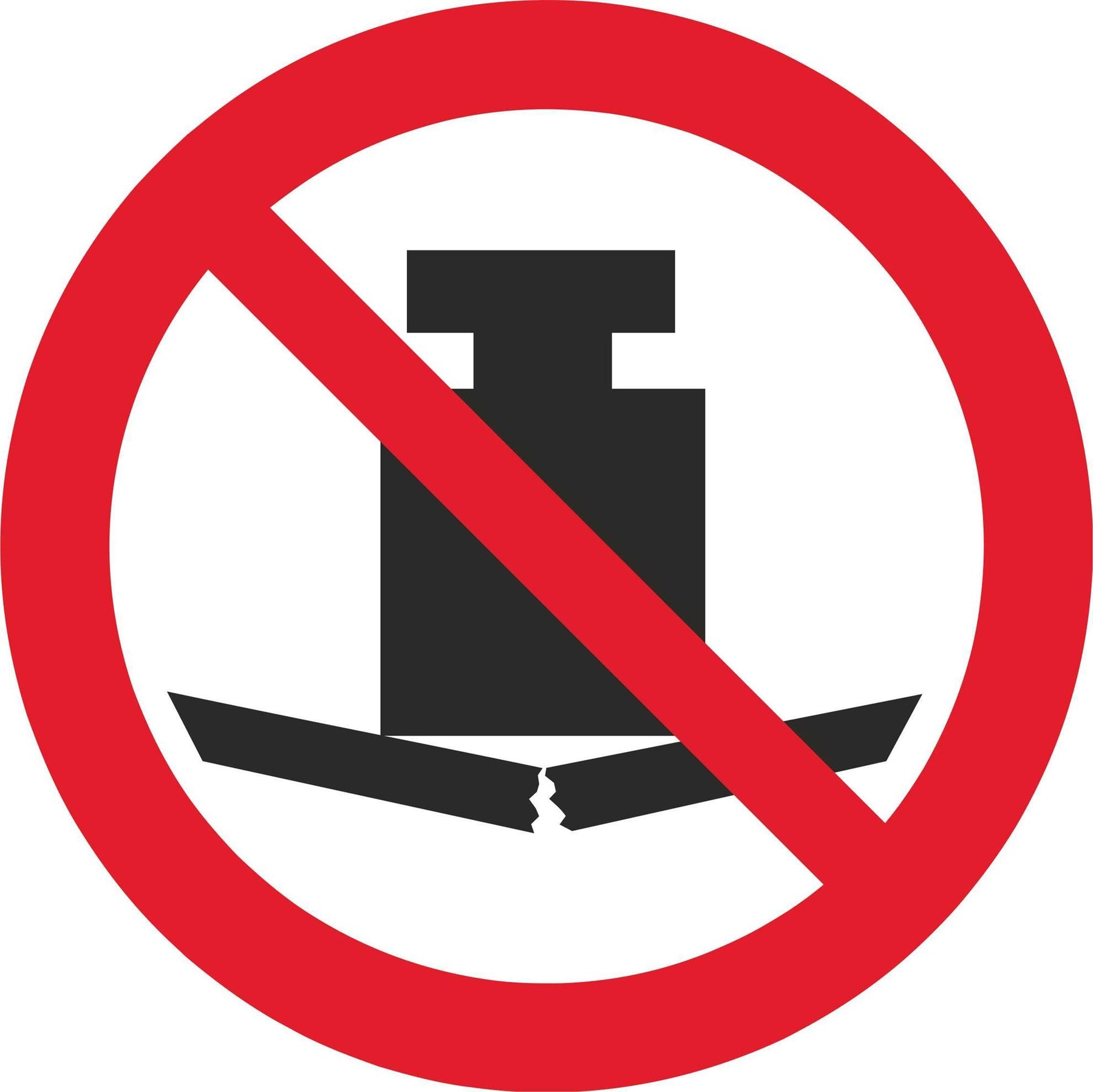 No heavy load - Symbol sticker sheet